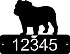 Bull Dog Home Address Sign Mail House Dog Memorial Pet English