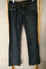 Guess jeans Womens 26x33 doheny boot cut  dark wash flap pocket #13