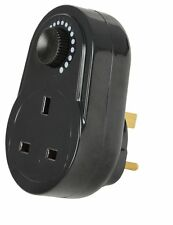 Mercury Black Plug In Adjustable Dimmer Switch Home Lamp Light Intensity Control