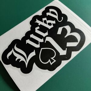 Lucky 13 Aces High - Car/Van/Camper/Bike Decal Sticker