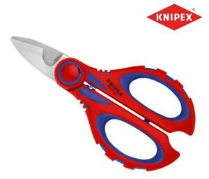 Knipex Compact Electricians Scissors/Wire Cable Shears Snips + Clip 95 05 10 SB
