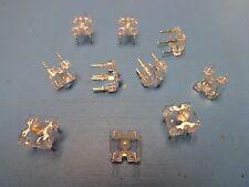 10) AGILENT HPWT-DL00-00000 TS AlInGaP AMBER SUPER FLUX LED CLEAR DOME 4 PIN DIP