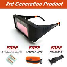 3rd GEN Auto Solar Darkening Welding Goggles Glasses Helmet Mask W/ Case Lenses