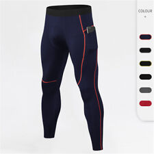 Мужские сжатия базовый слой тепловой леггинсы туго брюки для бега быстро сохнет