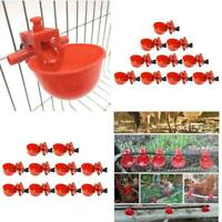 20Pcs Chicken Drink Quail Waterer Bowls Bird Automatic Feeder Drinking Cups New