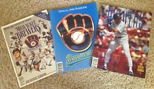 (3)  Milwaukee Brewers Yearbooks 1989 -1990 - 1991 NEAR MINT CONDITION