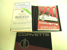 GM 1990 Chevy Corvette Owner's Manual (o) #10122656B