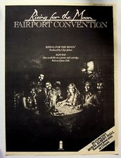FAIRPORT CONVENTION 1975 POSTER ADVERT RISING FOR THE MOON