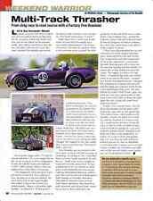 COBRA ROADSTER  ~  FACTORY FIVE  ~  GREAT WEEKEND WARRIOR ARTICLE / AD