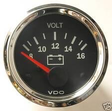 VDO Chrome Voltmeter 12V