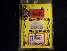 Vintage Trelock Padlock / Chain Lock w/ Original Package Bike Boat Outboard