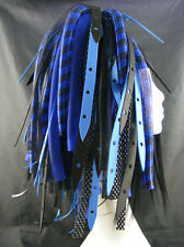 CYBERLOXSHOP BLUEWEB CYBERLOX CYBER HAIR FALLS DREADS GOTH RAVE BLUE BLACK