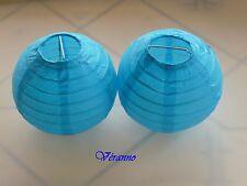 Boule en papier turquoise x2 diam.10cm. Décoration mariage, baptême.