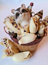 """New listing Fitz and Floyd Charming Tails """" I 'm All Ears """" 85/515 Fall Corn on Cob w Racoon"""