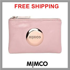 Authentic Mimco BLUSH PINK Lovely Leather Small MIM Pouch Wallet Purse BNWT DF