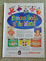 1961 Hormel Ham Famous Foods of World French Onion Soup Vintage Color Print Ad