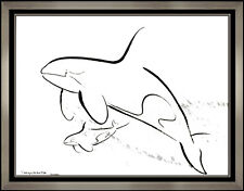 ROBERT WYLAND Original Acrylic Painting Signed Sea Life Dolphin Animal Art oil