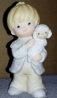 Vintage Homco Child w/ Lamb #5502