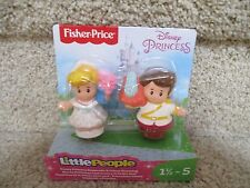 Fisher Price Little People Cinderella Charming Disney Princess NEW 2 pack figure