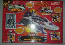 "2001 BANDAI POWER RANGERS WILD FORCE DELUXE LUNAR ANIMOTOR VEHICLE 12"" w/ fig"