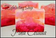 Exfoliating PINA COLADA Tropical Glycerine Loofah Soap NATURAL ,HANDMADE 160g