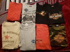 8 Harley Davidson Men T-shirt Lot - Sizes XL and 2XL