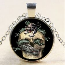 Fine Fashion Jewellery Skull Dragon Panther Design Silver Chain Necklace Fantasy