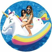Pool Float Unicorn Inflatable Rocking  ride on water beach  Swimming NEW