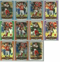 Kansas City Chiefs 11 card 2014 Topps Chrome COLOR REFRACTORS lot-all different