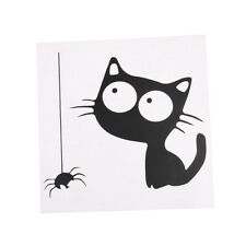 Cat and Spider Toilet Sticker Mural decals For house decoration Wall Sticker RW