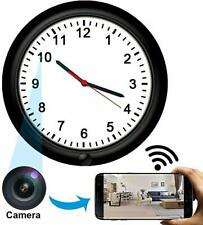 Wireless Camera Wall Clock, HD Camera Nanny Cam, Rechargeable Battery clock cam