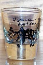 """NM """"IF YOU DRINK DON'T DRIVE"""" HORSE AND WALKING RIDER SHOT GLASS SHOOTER"""