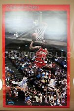 "Vintage NBA 1988 Chicago Bulls #23 Michael MJ Jordan Poster Starline 22"" x 34"""
