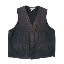 Vtg Genuine Cc Filson Wool Vest Charcoal Grey Hunting Outdoor 48 Style 20 Rustic