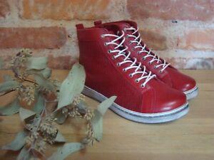 Andrea Conti Sneaker high rot chilli weiß Leder Damen Gr. 36 37 38 39 40 41