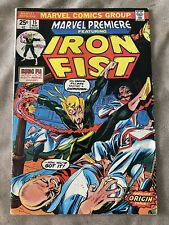 Marvel Premiere #15 1st App Appearance Iron Fist W/ Value Stamp High Grade 1974