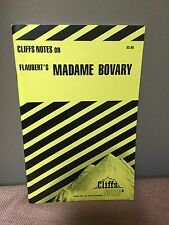 Cliffs Notes On Flaubert's Madame Bovary