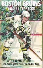 Ray Bourque  Boston Bruins 1980-1981 Yearbook! RARE! Hall of Famer!