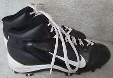 Nike Alpha Speed Shark Boys Football Lacrosse Cleats 442420-011 Blk/Wht Size 6Y