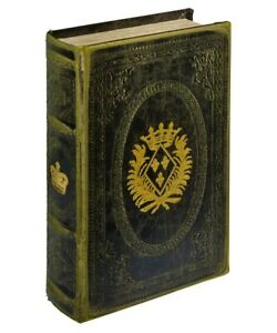 Gold Crown Storage Book Box that looks like a book! Magnetic opening