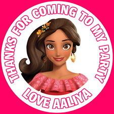 Disney princesse elena de avalor personnalisé brillant, fête d'anniversaire stickers