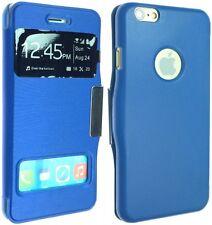 """Para Apple iPhone 6 (4,7 """") De Lujo De Cuero Funda Protectora Flip Bolsa Trasera Skin Smart"""
