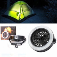 Portable Camping Tent LED Light Fan Hiking Outdoor Gear Equipment Ceiling Lamp