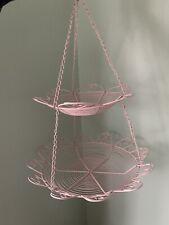 2 Tier Pink Hanging Basket