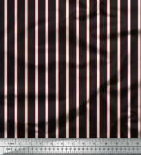Soimoi Designer 58 Inches Wide Stripe Printed Fabric Sewing Material By The Yard
