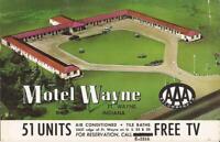 Fort Wayne, INDIANA - Motel Wayne - 1957 - ROADSIDE ADVERTISING
