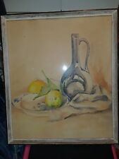 Vintage Art Painting By: GISELE DE RASSE.(LISTED ARTIST).
