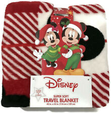 "Disney Minnie Mouse Super Soft Travel Blanket Christmas Soft Comfy 45""×55"""