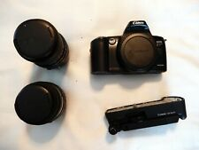 Canon EOS Kiss Camera With 2 Sigma Lenses, Mini Tripod, & Case