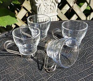 Fidenza Oslo Tempered Glass Espresso Cups Set of 4 - Italy